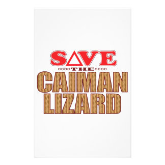 Caiman Lizard Save Personalised Stationery