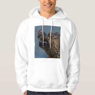 Caiman with a butterfly, Brazil Hoodie