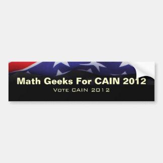 CAIN 2012 Math Geeks Bumper Sticker