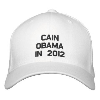 CAIN OBAMA IN 2012 EMBROIDERED CAP