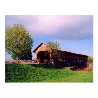 Cain Road Covered Bridge Postcard