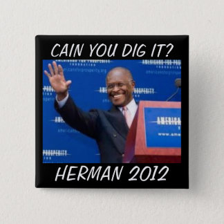 Cain you dig it? 15 cm square badge