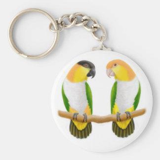 Caique Parrot Love Keychain