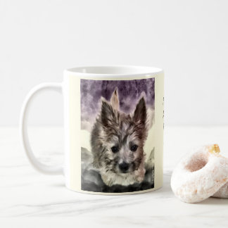 Cairn Puppy Watercolor Mug