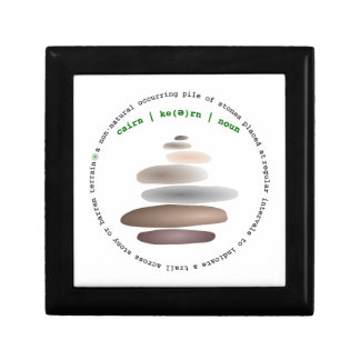 Cairn stacked stone gift box