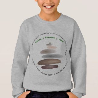 Cairn stacked stone sweatshirt