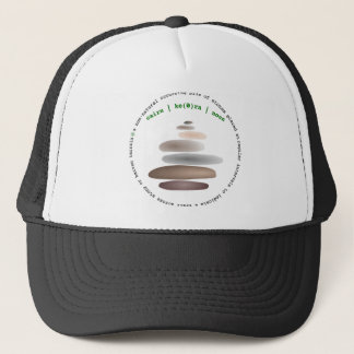 Cairn stacked stone trucker hat