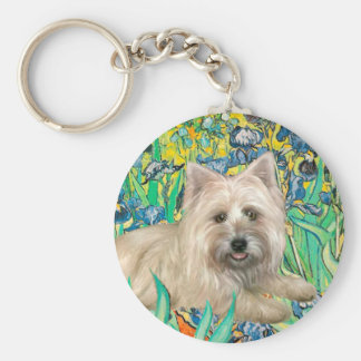 Cairn Terrier 4 - Irises Key Ring