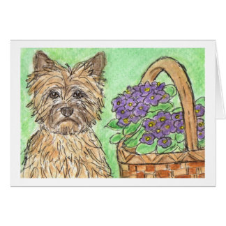 Cairn Terrier birthday card notecard  thankyou