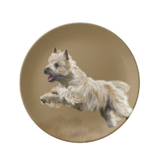 Cairn Terrier called Mackey Porcelain Plates