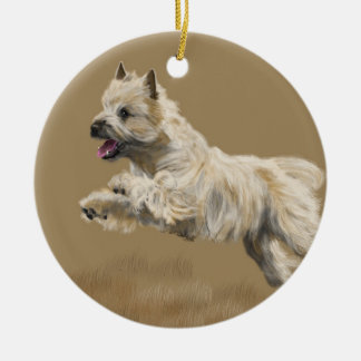 Cairn Terrier Ceramic Ornament