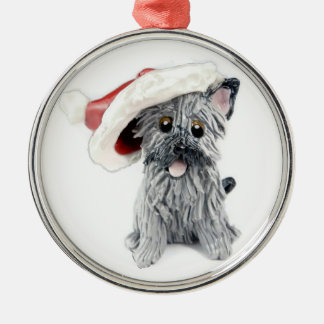 Cairn Terrier Christmas Ornament Gray