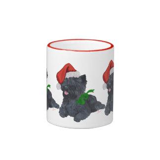 Cairn Terrier Christmas Ringer Mug