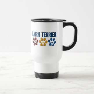 CAIRN TERRIER DAD Paw Print 1 Travel Mug