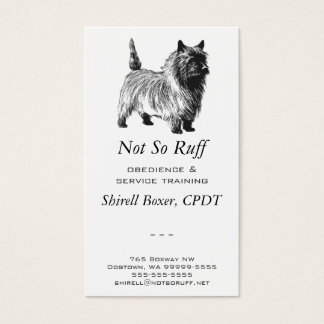 Cairn Terrier Dog Business Business Card