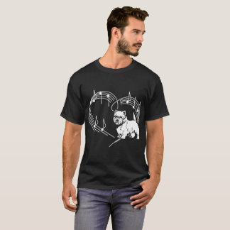Cairn Terrier Dog Love Rhythm Heartbeats Tshirt