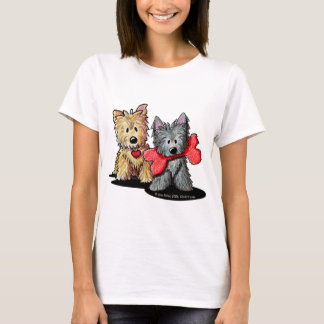 Cairn Terrier Duo Baby Doll T-Shirt