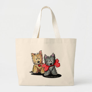 Cairn Terrier Duo Jumbo Tote Bag