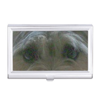 cairn terrier eyes business card holder