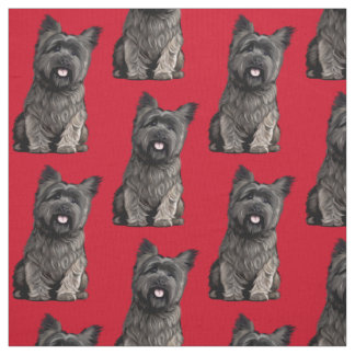 Cairn Terrier Fabric