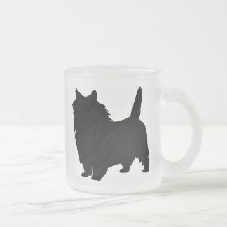 Cairn Terrier Gear Frosted Glass Coffee Mug