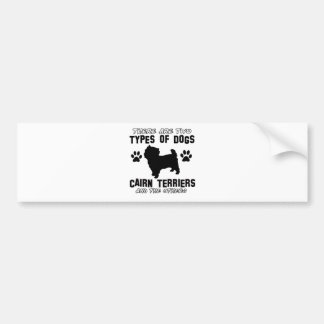 CAIRN TERRIER gift items Bumper Stickers