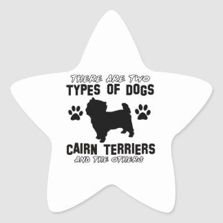 CAIRN TERRIER gift items Star Stickers