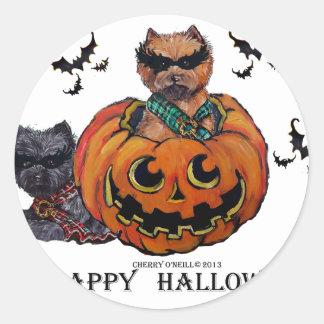 Cairn Terrier Halloween Classic Round Sticker