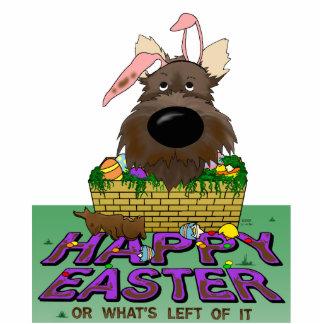 Cairn Terrier Happy Easter Sculpture Standing Photo Sculpture