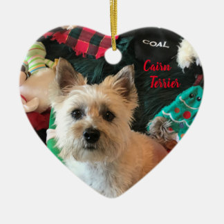 Cairn Terrier Heart-Shaped Ornament