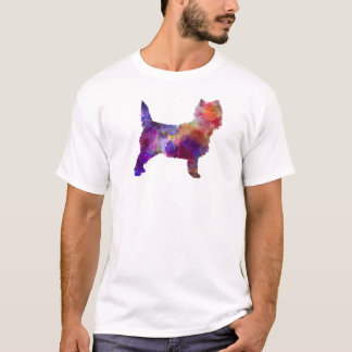 Cairn Terrier in watercolor T-Shirt