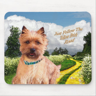 Cairn Terrier Just Follow yellow Brick Road Mouse Pad