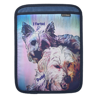 Cairn Terrier Morkie Funny Vertical iPad Sleeve