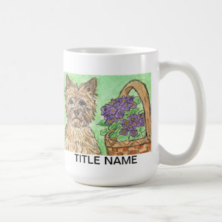 Cairn terrier mug personalise birthday relation