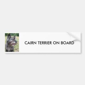 CAIRN TERRIER ON BOARD car bumper sticker