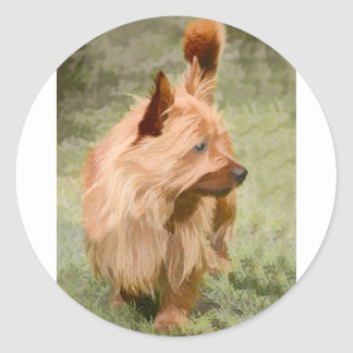 Cairn Terrier - Painting Classic Round Sticker