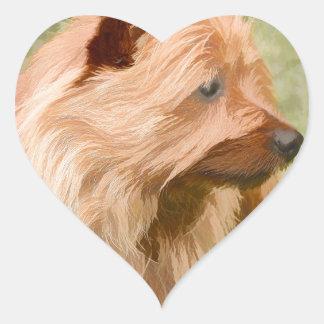 Cairn Terrier - Painting Heart Sticker