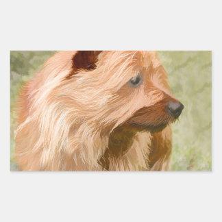 Cairn Terrier - Painting Rectangular Sticker