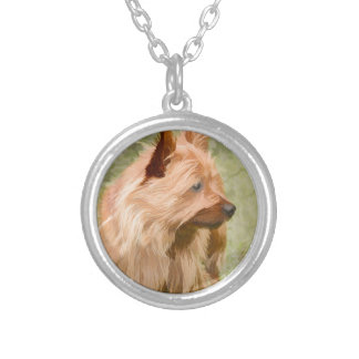 Cairn Terrier - Painting Silver Plated Necklace