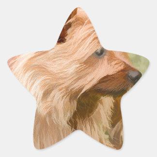 Cairn Terrier - Painting Star Sticker