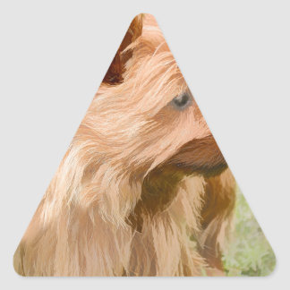Cairn Terrier - Painting Triangle Sticker