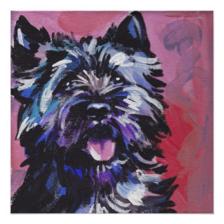 Cairn Terrier Pop Art Print