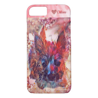 Cairn Terrier Puppy Dog Love Colorful iPhone Case