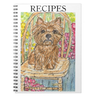 CAIRN TERRIER RECIPE BOOK COOKING BIRTHDAY NOTE BOOKS