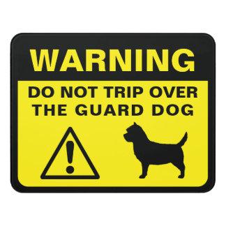 Cairn Terrier Silhouette Guard Dog Warning Door Sign
