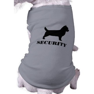 Cairn Terrier Silhouette with Custom Text Sleeveless Dog Shirt