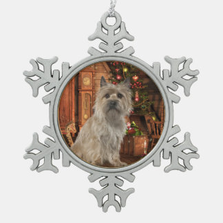 Cairn Terrier Snowflake Ornament