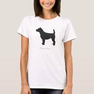 Cairn Terrier T-shirt (black silhouette)