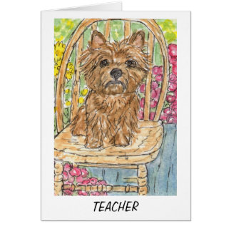 Cairn Terrier Teacher card thankyou leaving
