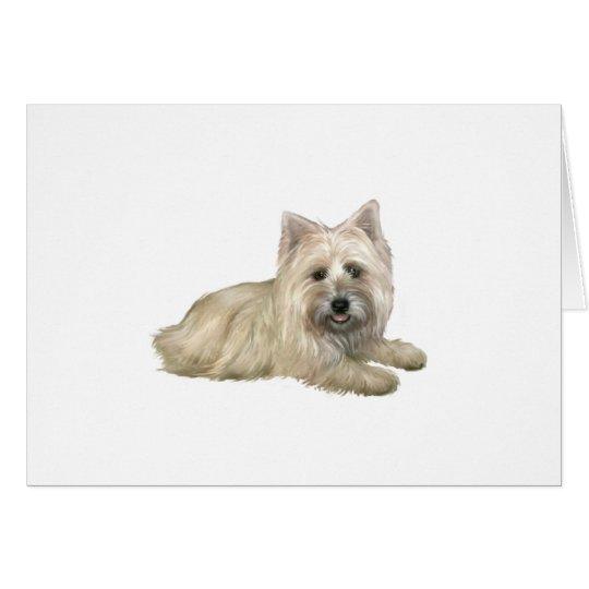 Cairn Terrier (Wheaten) - lying down Card